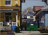 """Doug Braithwaite; Ogden Geometry, Oil, 8"""" x 10"""""""