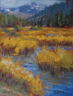 "Roberta Glidden; Cottonwood Creek, Oil, 14"" x 11"""