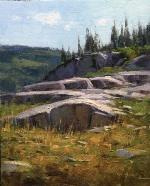 "John Hughes; Granite Ridge, Oil, 10"" x 8"""