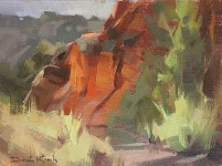 """David Koch; Reflected Light, Oil, 9"""" x 12"""""""