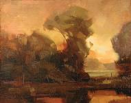 "David Koch; Tranquility, Oil, 11"" x 14"""