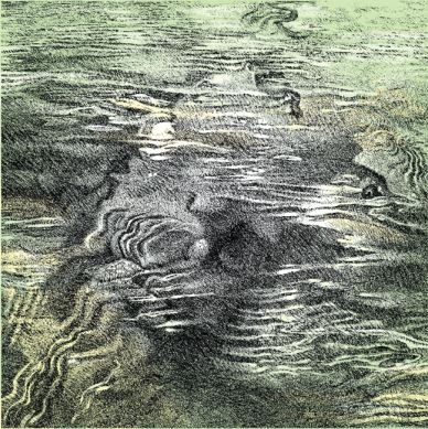 "Pen drawing for Ken Brewer's ""Water Song,"" 2006"