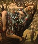 """Romantic Fiction, 2001, oil on canvas, 48"""" x 42"""""""