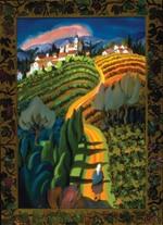 "Viñedo Iberico, 2004, oil on canvas, 56"" x 38"""