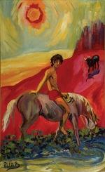 """Mediodía, 1994, oil on canvas, 35"""" x 20"""""""