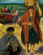 """La Cosecha del Mar, 2000, oil on canvas, 46"""" x 32"""""""