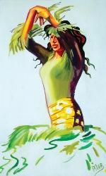 """La Bailaora, 1990, oil on canvas, 40"""" x 38"""""""