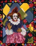"""Il Pagliachi, 2001, oil on canvas, 44"""" x 30"""""""