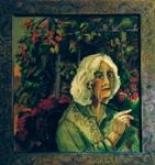 "Auto Retrato, 2008, acrylic on canvas, 32"" x 30"""