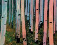 "John Collins, ""Aspen Forest,"" 2003, oil, 16"" x 20"""