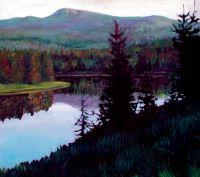 "John Collins, ""Near McCray's Bridge—Henry's Fork,"" 2003, oil, 32"" x 36"""