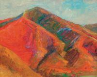 """John Collins, """"Grandeur Peak in the Fall,"""" 2003, oil, 16"""" x 20"""""""