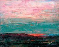 """John Collins, """"Light on the Desert,"""" 2003, oil, 16"""" x 20"""""""