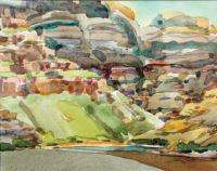 "John Collins, ""A Shot of Light,"" 2003, watercolor, 8"" x 10"""