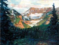 "John Collins, ""Timpanogos in the Spring,"" 2003, oil, 8"" x 10"""