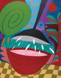"Meri DeCaria, ""Concentration,"" 2002, acrylic, 24"" x 32"""