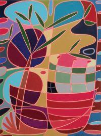 "Meri DeCaria, ""Effusive,"" 2003, acrylic, 9"" x 12½"""