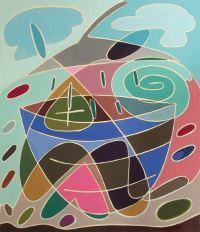 "Meri DeCaria, ""For You,"" 2002, acrylic, 11"" x 13"""